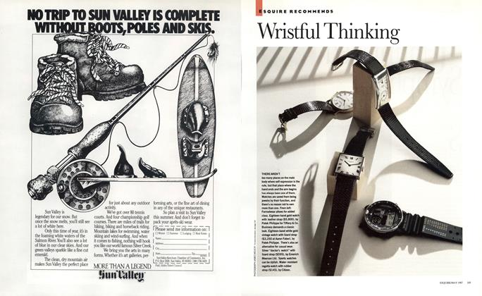 Article Preview: Wristful Thinking, MAY 1987 1987   Esquire