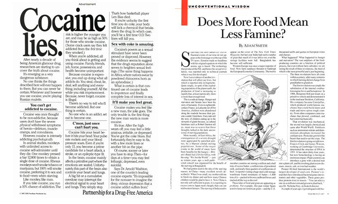 Article Preview: Does More Food Mean Less Famine?, JULY 1987 1987 | Esquire