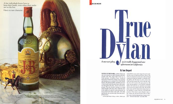 Article Preview: True Dylan, July 1987 | Esquire
