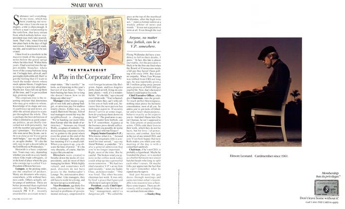 Article Preview: At Play in the Corporate Tree, AUGUST 1987 1987 | Esquire