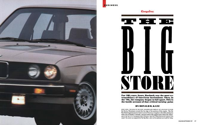 Article Preview: The Big Store, SEPTEMBER 1987 1987 | Esquire
