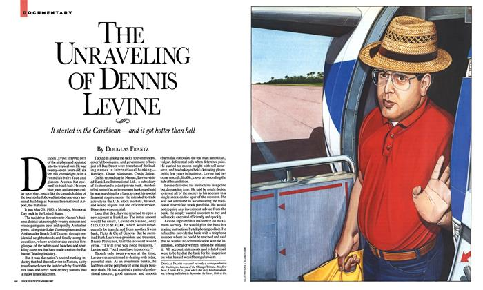 Article Preview: The Unraveling of Dennis Levine, September 1987 | Esquire