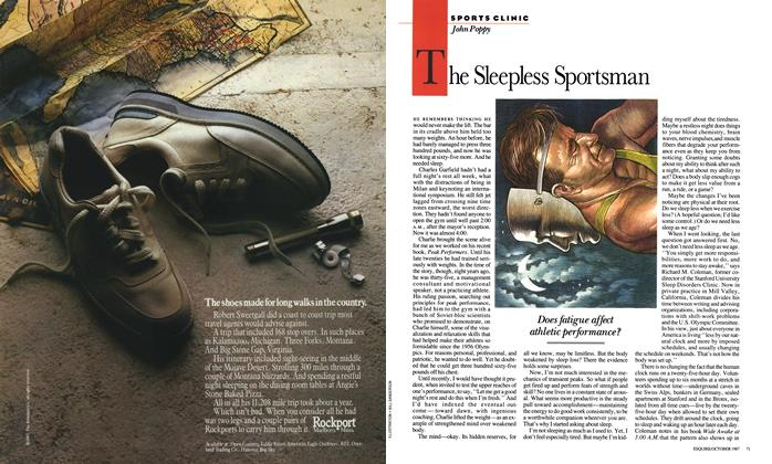 Article Preview: The Sleepless Sportsman, October 1987 | Esquire