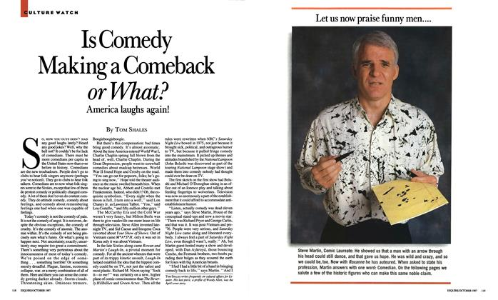 Article Preview: Is Comedy Making a Comeback or What?, October 1987 | Esquire