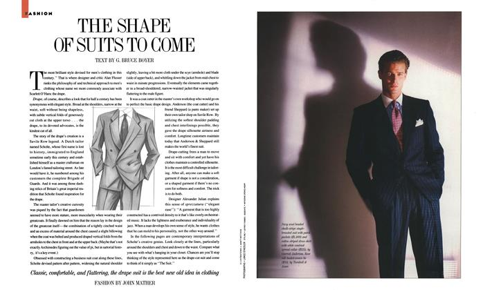 Article Preview: The Shape of Suits to Come, October 1987   Esquire
