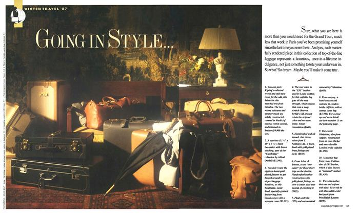 Article Preview: Going in Style..., OCTOBER 1987 1987 | Esquire