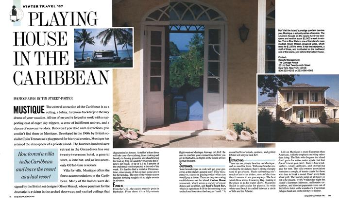 Article Preview: Playing House in the Caribbean, OCTOBER 1987 1987 | Esquire
