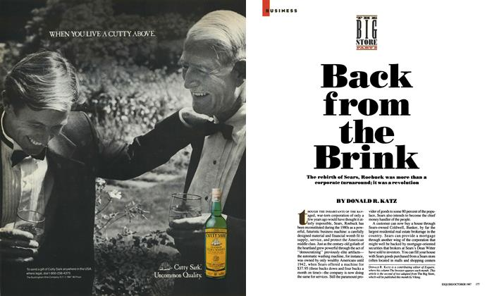 Article Preview: Back From the Brink, October 1987 | Esquire