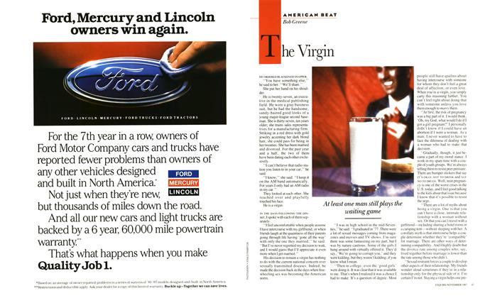 Article Preview: The Virgin, November 1987 | Esquire