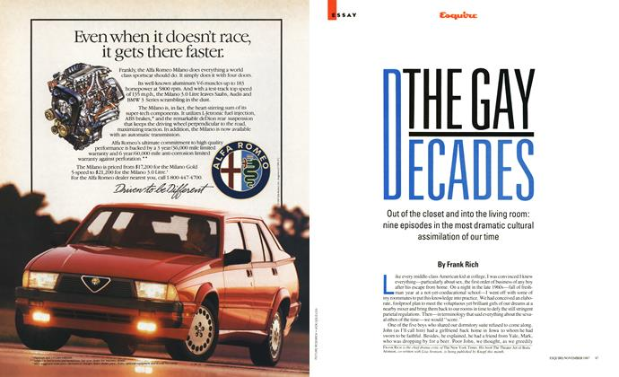 Article Preview: The Gay Decades, November 1987 | Esquire