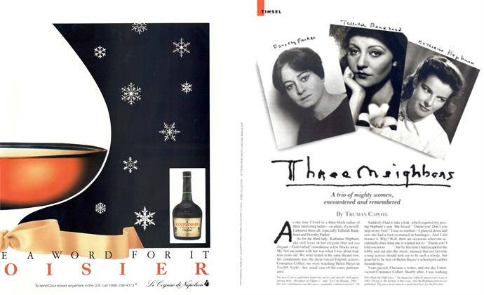 Article Preview: Three Neighbors, DECEMBER 1987 1987 | Esquire
