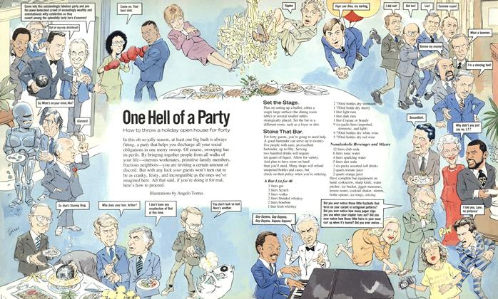 Article Preview: One Hell of a Party, December 1987 | Esquire