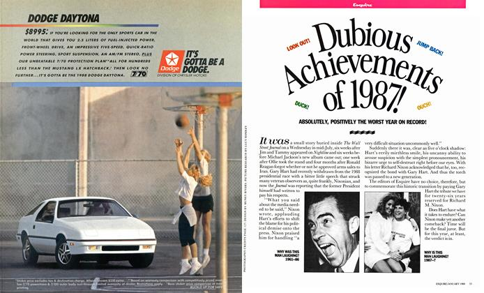 Article Preview: Dubious Achievements of 1987!, January 1988 | Esquire