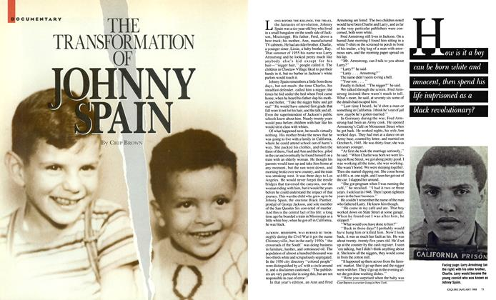 Article Preview: The Transformation of Johnny Spain, January 1988 | Esquire