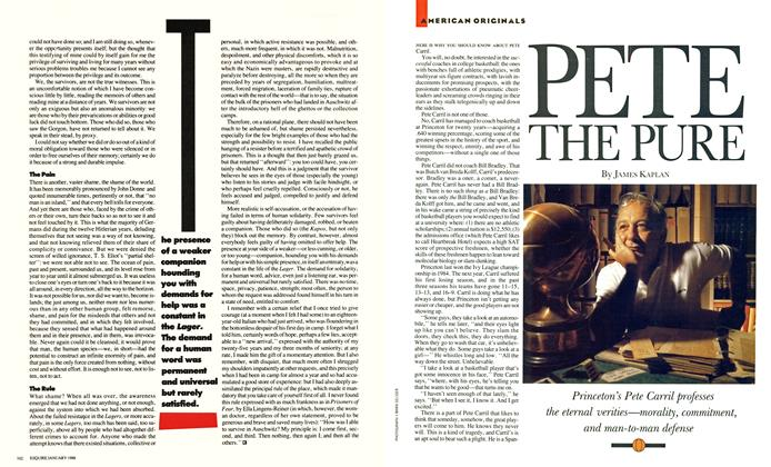 Article Preview: Pete the Pure, January 1988 | Esquire