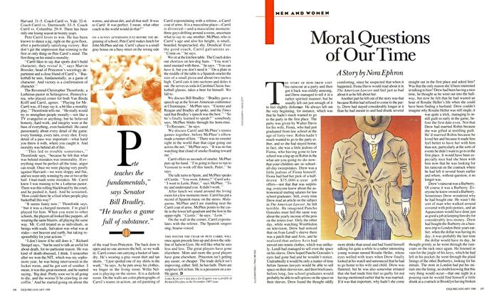 Article Preview: Moral Questions of Our Time, January 1988 | Esquire