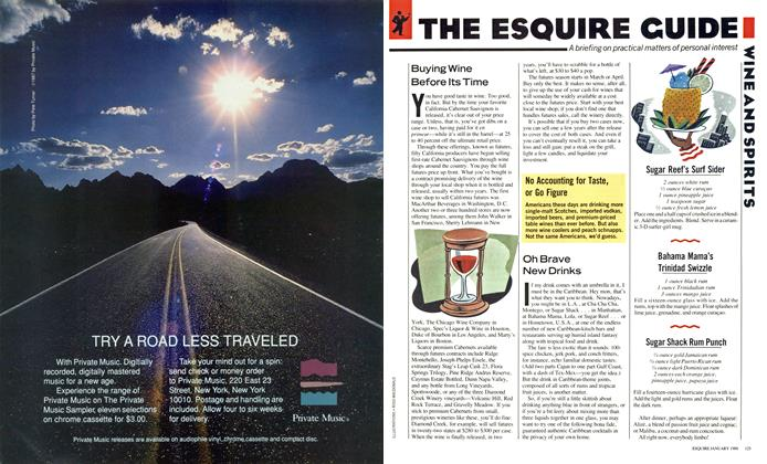 Article Preview: The Esquire Guide: Wine & Spirits, JANUARY 1988 1988 | Esquire