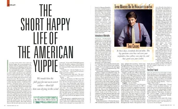 The Short Happy Life of the American Yuppie