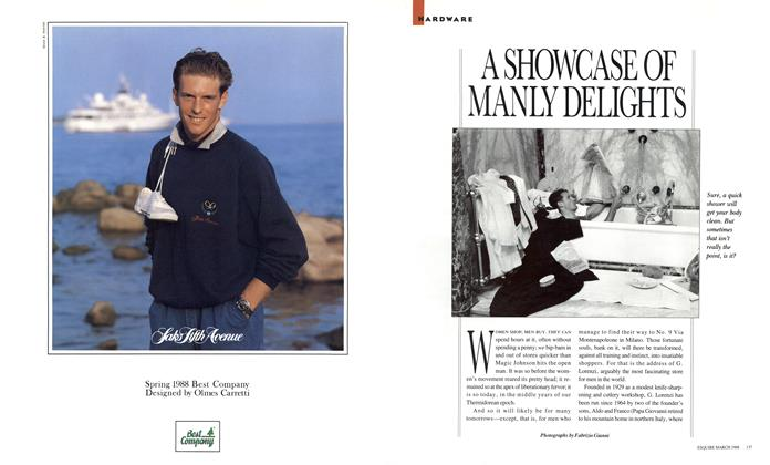 Article Preview: A SHOWCASE OF MANLY DELIGHTS, MARCH 1988 1988 | Esquire