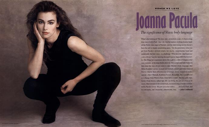 Article Preview: Joanna Pacula, APRIL 1988 1988 | Esquire