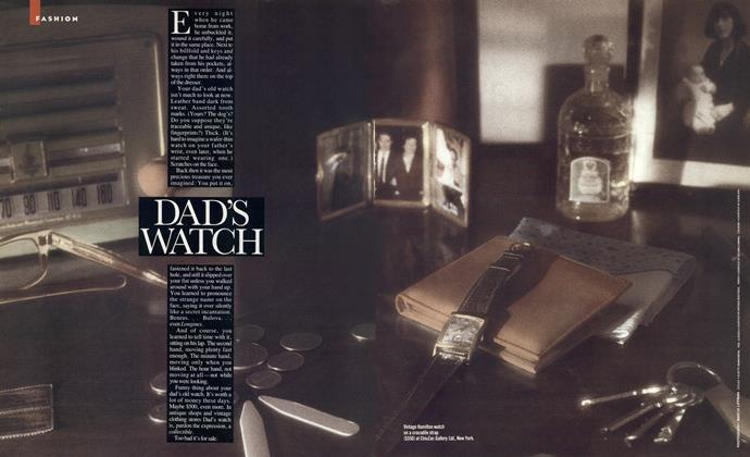 Article Preview: DAD'S WATCH, APRIL 1988 1988 | Esquire