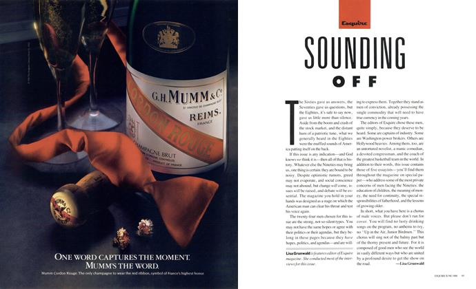 Article Preview: SOUNDING OFF, June 1988 1988 | Esquire