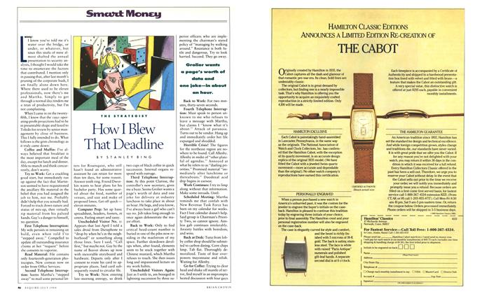 Article Preview: How I Blew That Deadline, July 1988 1988 | Esquire