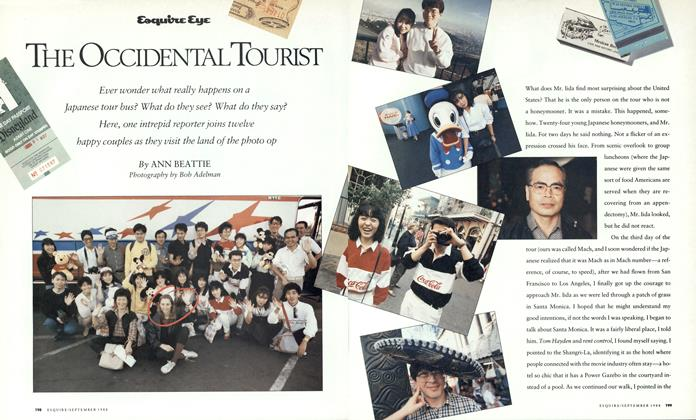 Article Preview: The Occidental Tourist, September 1988   Esquire