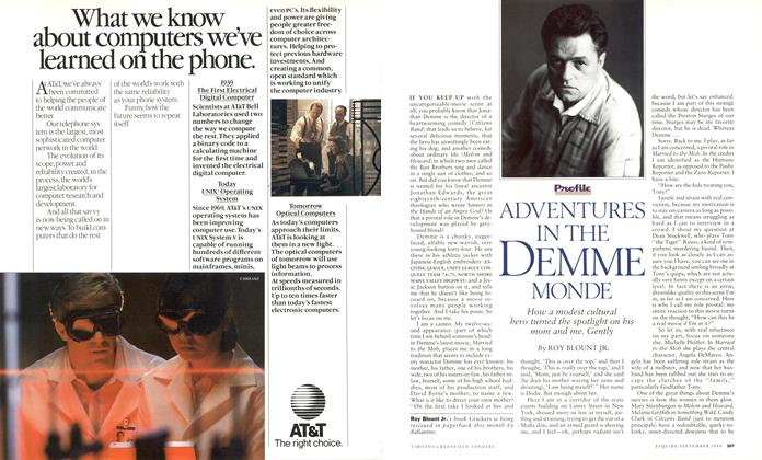 Article Preview: Adventures in the Demme Monde, September 1988 1988   Esquire