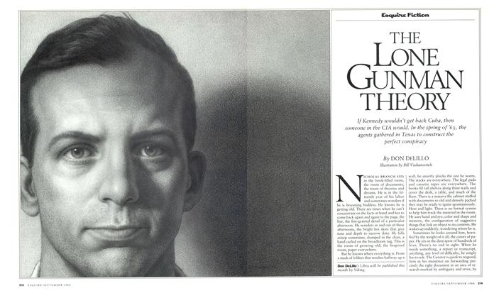 Article Preview: The Lone Gunman Theory, September 1988   Esquire