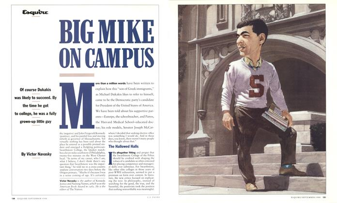 Article Preview: Big Mike on Campus, September 1988   Esquire