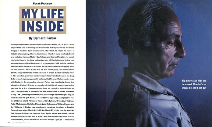 Article Preview: My Life Inside, September 1988   Esquire