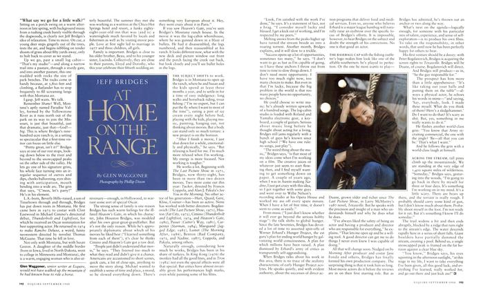 Article Preview: Jeff Bridges at Home on the Range, September 1988 1988 | Esquire