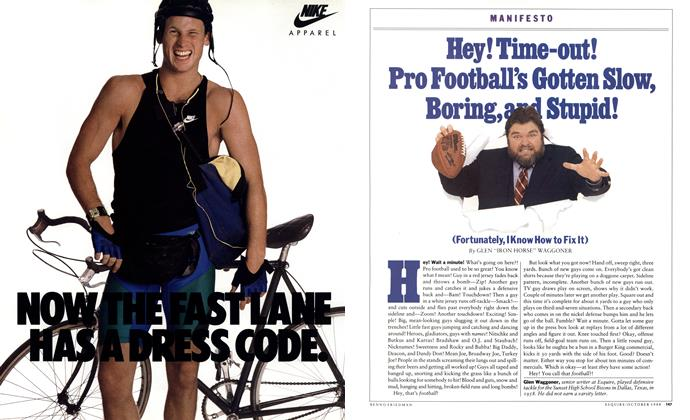Hey! Time-out! Pro Football's Gotten Slow, Boring, and Stupid!