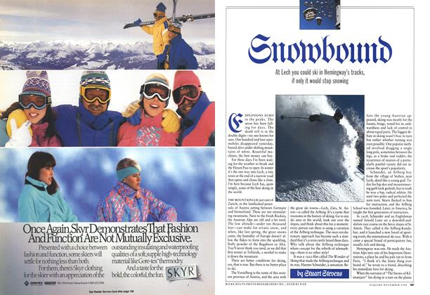 Article Preview: Snowbound, November 1988 | Esquire