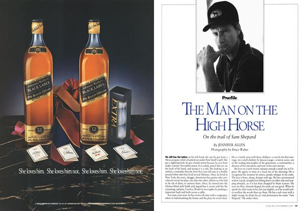 Article Preview: The Man on the High Horse, November 1988 1988 | Esquire