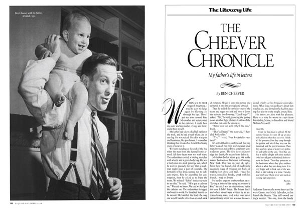 Article Preview: The Cheever Chronicle, November 1988 1988 | Esquire