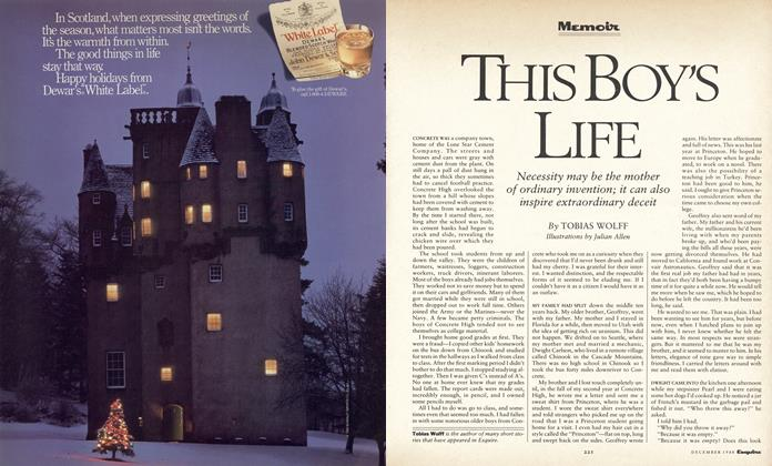 Article Preview: This Boy's Life, December 1988   Esquire