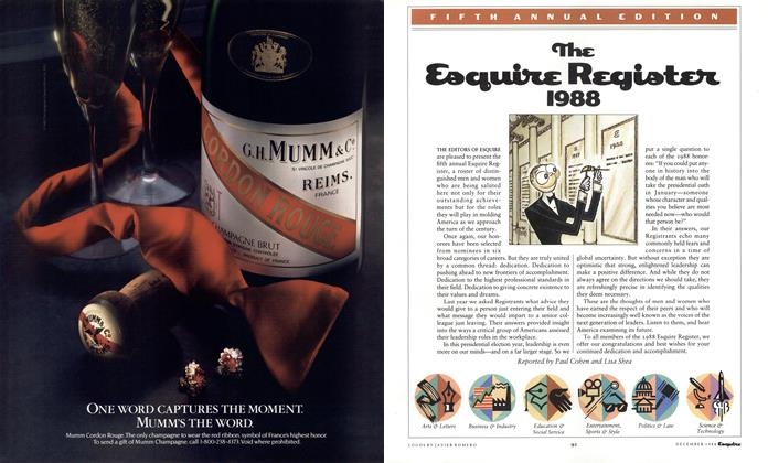 The Esquire Register 1988