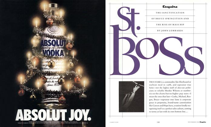 Article Preview: St. Boss, December 1988 1988 | Esquire