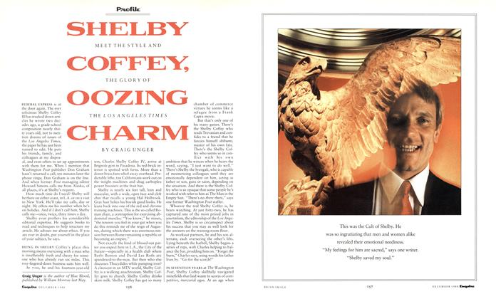 Article Preview: Shelby Coffey, Oozing Charm, December 1988 | Esquire
