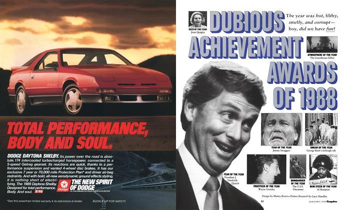 Dubious Achievement Awards of 1988