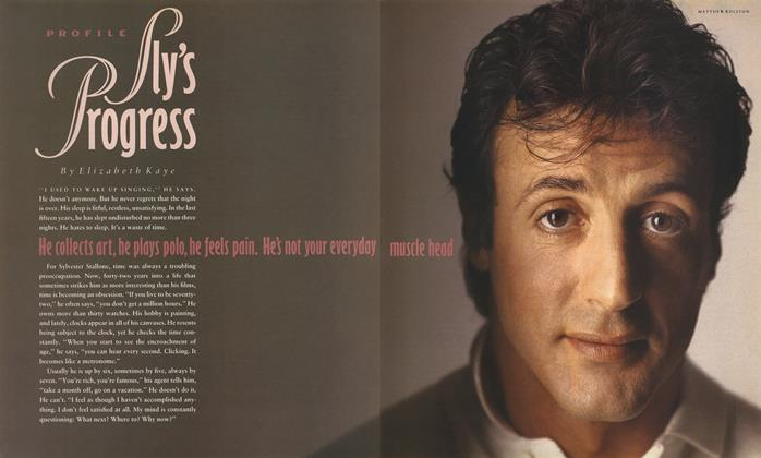 Article Preview: Sly's Progress, February 1989 1989 | Esquire