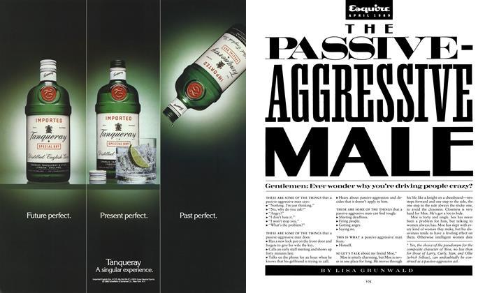 Article Preview: The Passive-Aggressive Male, April 1989 | Esquire