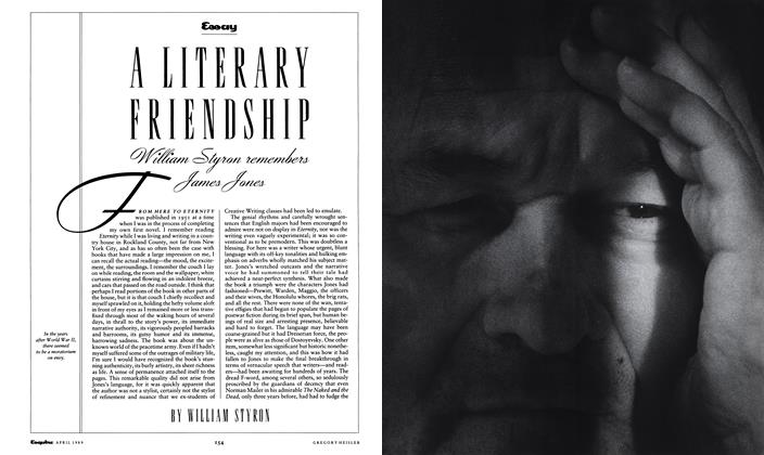 Article Preview: A Literary Friendship, APRIL 1989 1989 | Esquire