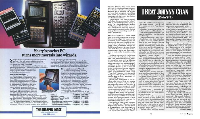 Article Preview: I BEAT JOHNNY CHAN, May 1989 1989 | Esquire