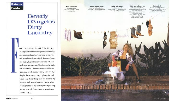 Article Preview: Beverly D'angelo's Dirty Laundry, June 1989 1989   Esquire