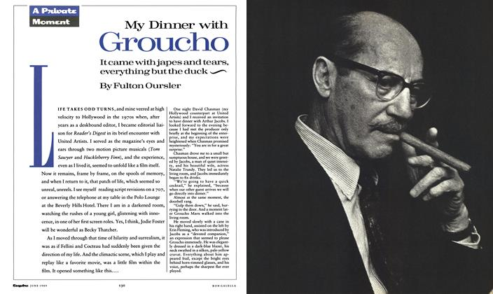 Article Preview: My Dinner with Groucho, June 1989 1989   Esquire