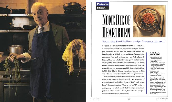 Article Preview: None Die of Heartburn, June 1989 1989 | Esquire