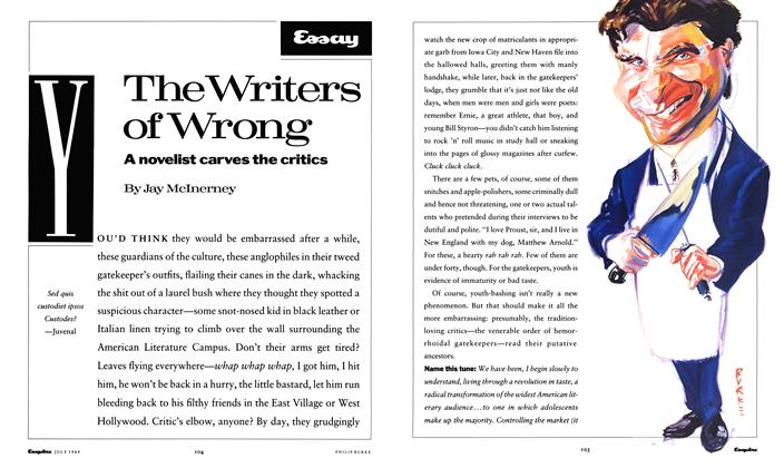 The Writers of Wrong